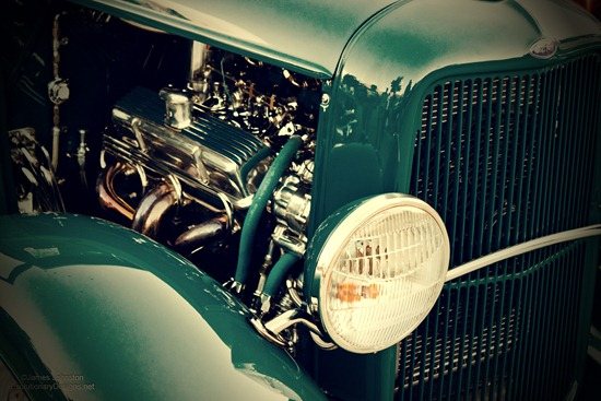 1930s Ford Truck Custom Hotrod - vintage effect
