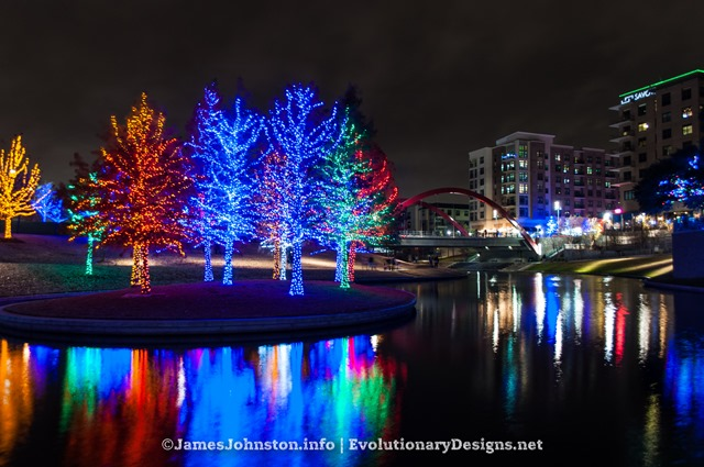 Christmas Lights In Vitruvian Park In Addison, Texas Photo Gallery