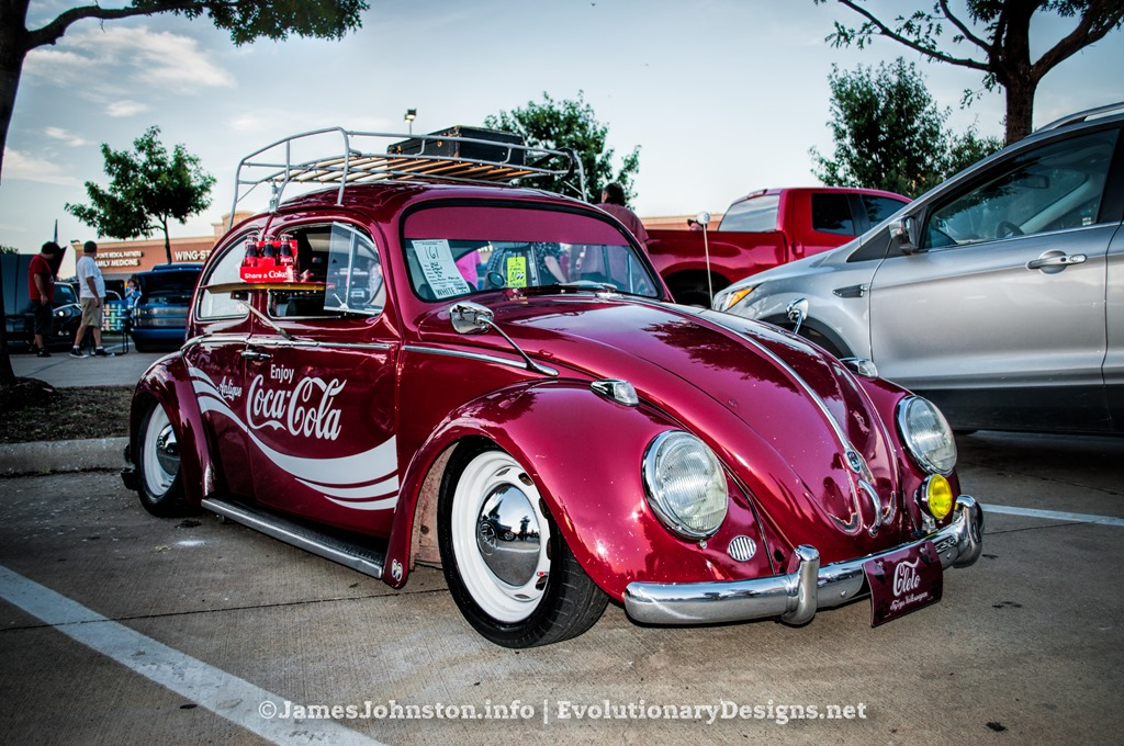 Coca Cola VW Bug Spotted At The Sachse Texas Cars Under The Stars - Vw car show this weekend