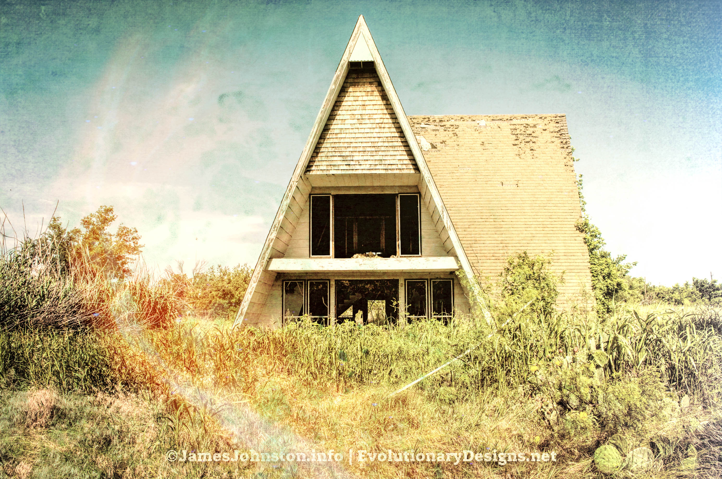Abandoned A-Frame House in Jack County, Texas
